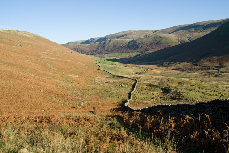 Looking back down Bannerdale