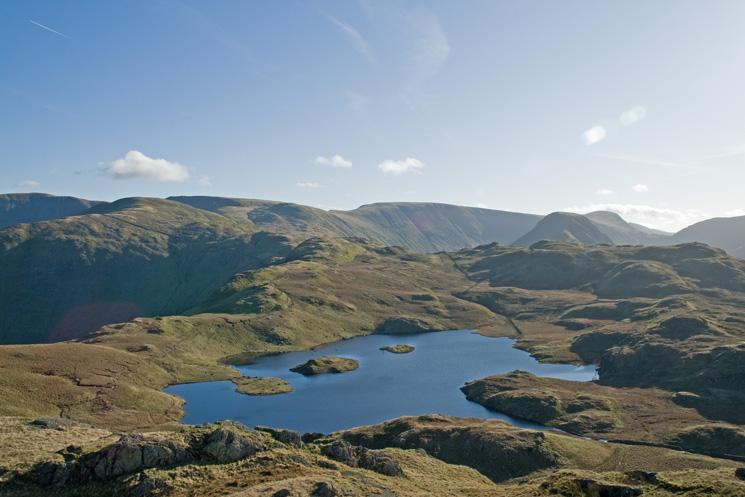 Angle Tarn from Angletarn Pikes' southern top