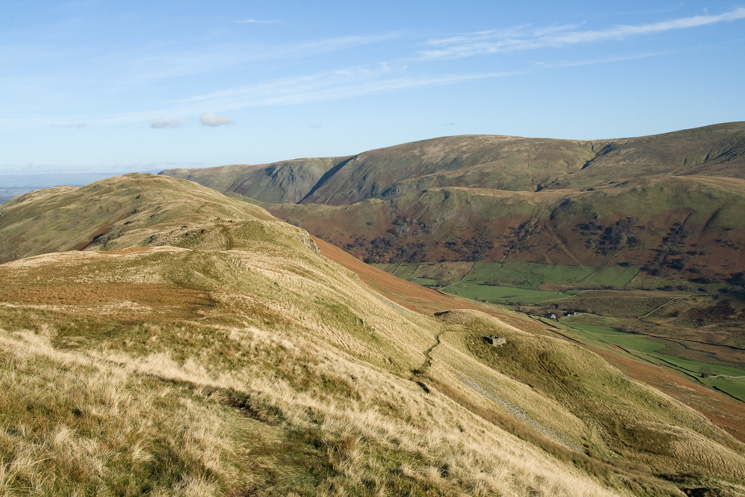 The path on the right descending off the ridge is the bridleway down to Dale Head