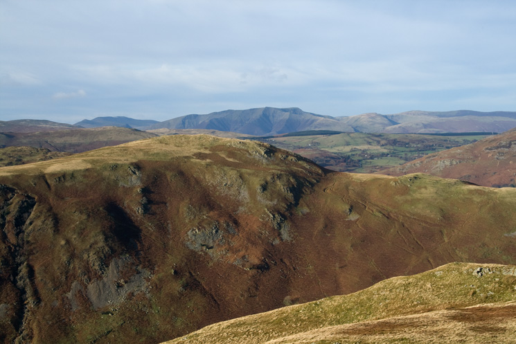 High Dodd with Blencathra beyond from Beda Fell's summit