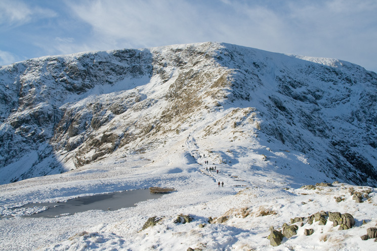 Caspel Gate Tarn and the Long Stile ridge onto High Street's summit