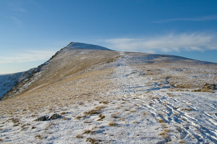 Looking back to Kidsty Pike from the descent to Kidsty Howes
