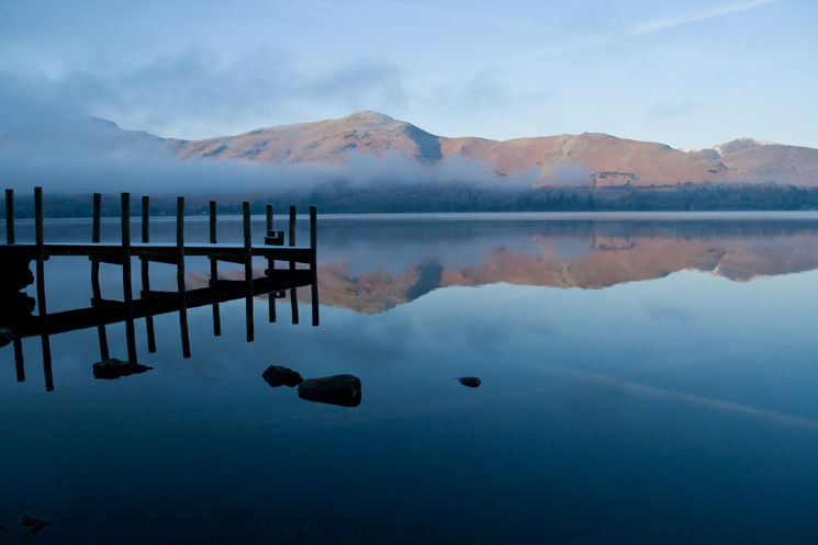 Looking across Derwent Water to Catbells from Ashness Gate