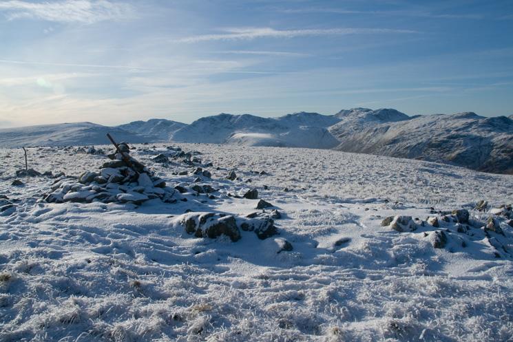 Ullscarf's summit cairn
