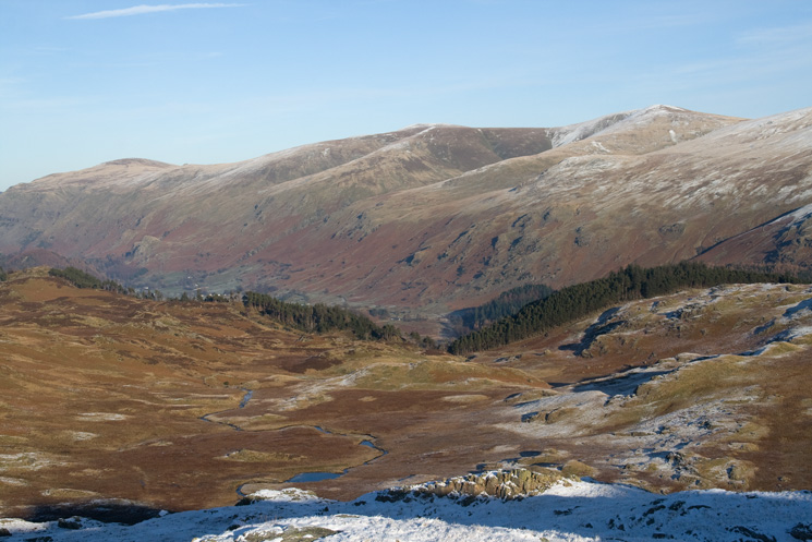 The Dodds with Launchy Gill Tarn below