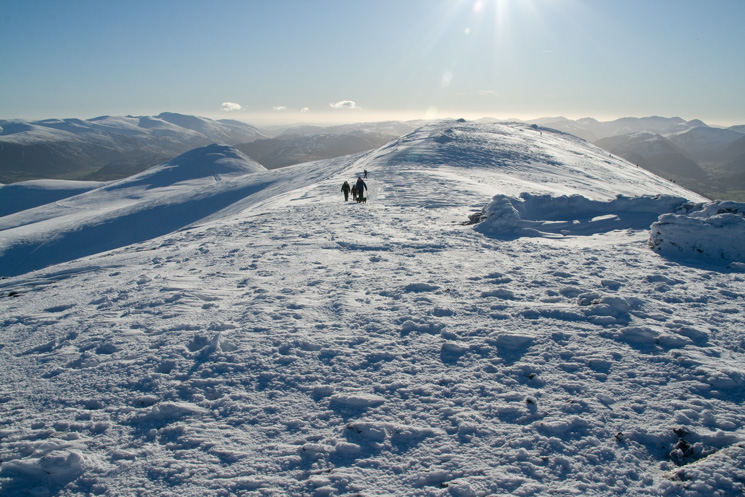 Looking south from Skiddaw's summit