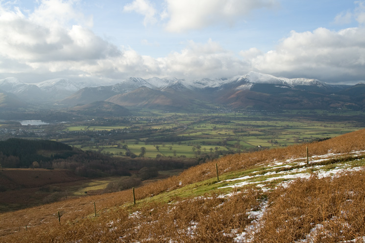 The Vale of Keswick from our ascent of Jenkin Hill