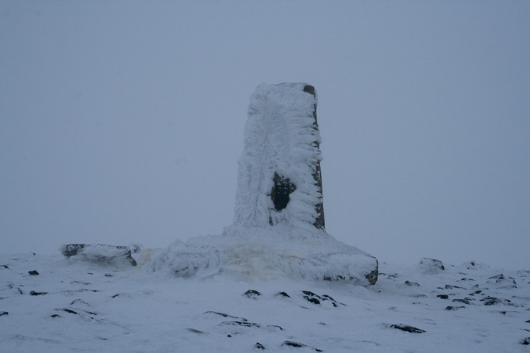 Skiddaw's trig point