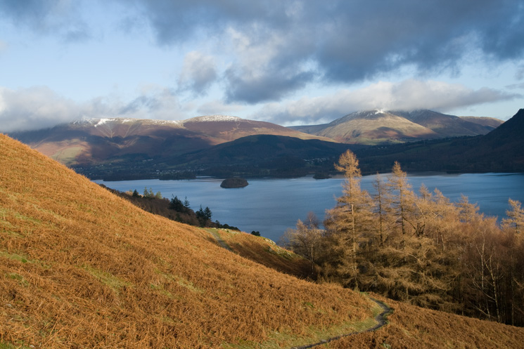Derwent Water from the descent from Hause Gate