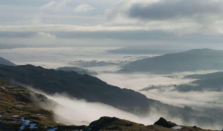 Cloud inversion over Windermere