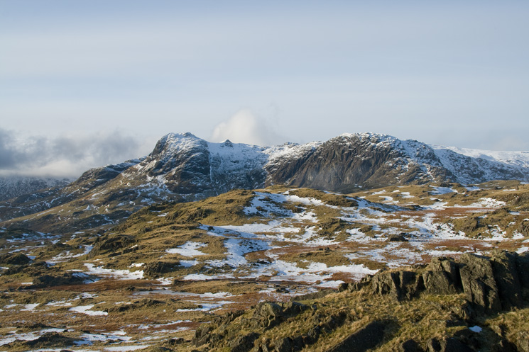 Harrison Stickle and Pavey Ark from Blea Rigg