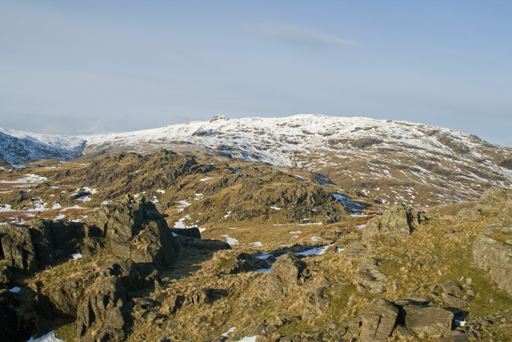 Looking up the ridge to Sergeant Man from Blea Rigg