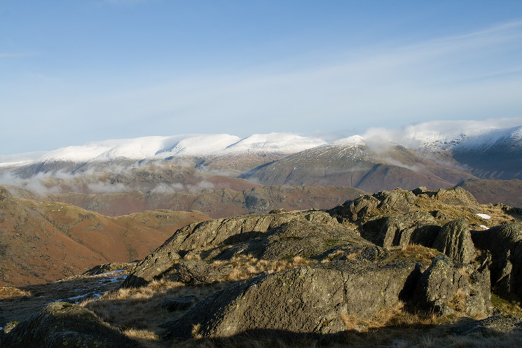 The Helvellyn range from Blea Rigg