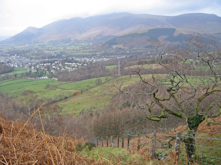 The Skiddaw fells from my ascent
