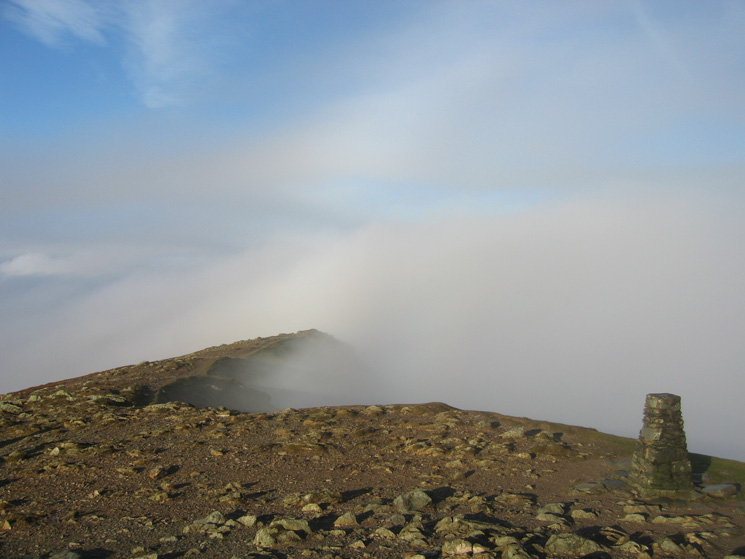 As close as it got to an inversion, Coniston Old Man's summit