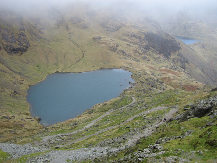Low Water and a glimpse of Levers Water from my descent
