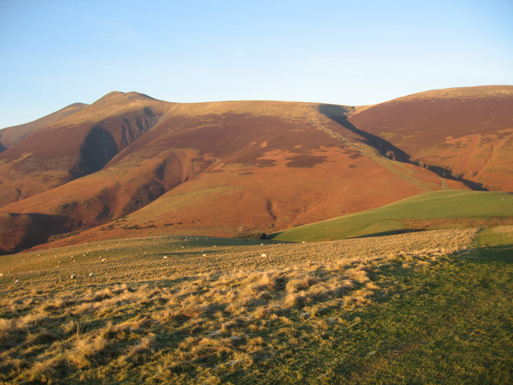 Skiddaw Little Man and Jenkin Hill from Latrigg