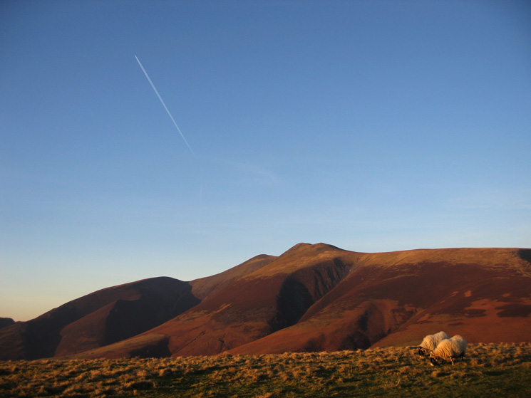 Carl Side, Skiddaw and Little Man