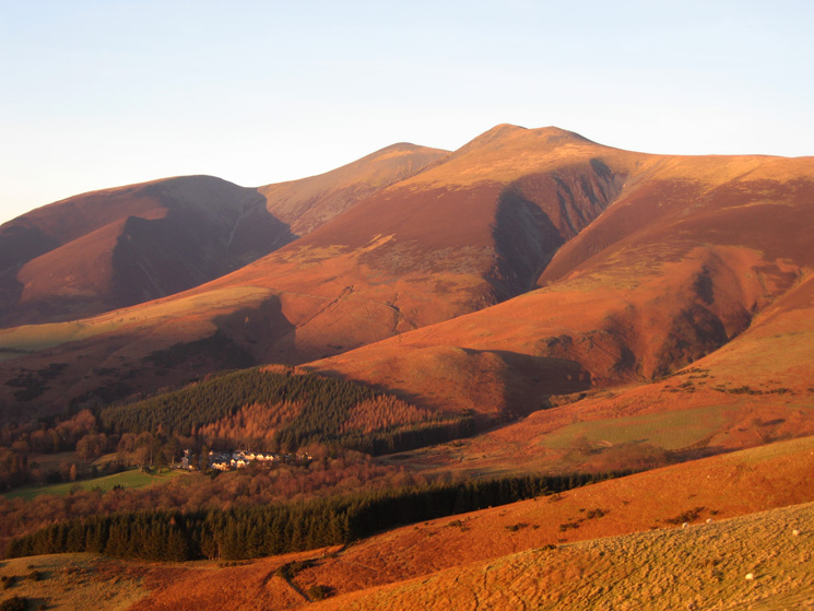Golden Skiddaw fells