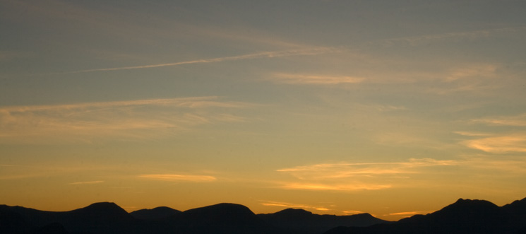 Sky over the north western fells
