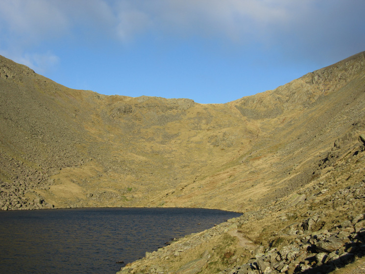 Looking towards Goat's Hawse from beside Goat's Water