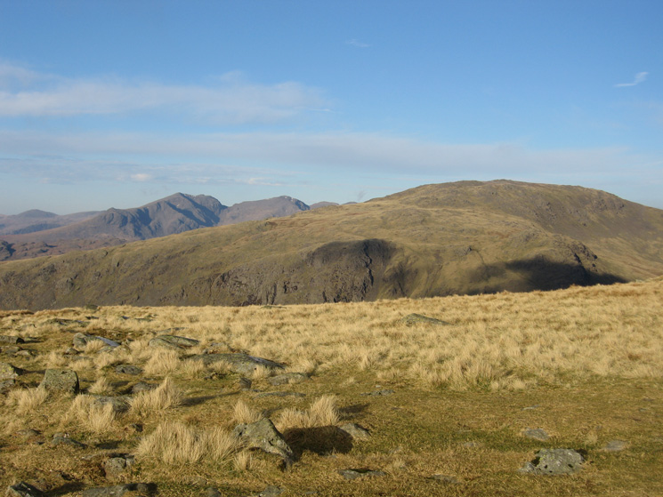 Grey Friar with the Scafells behind from Goat's Hawes