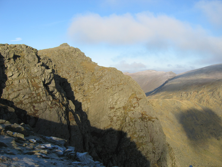 Looking back to Dow Crag's summit from near the top of South Rake
