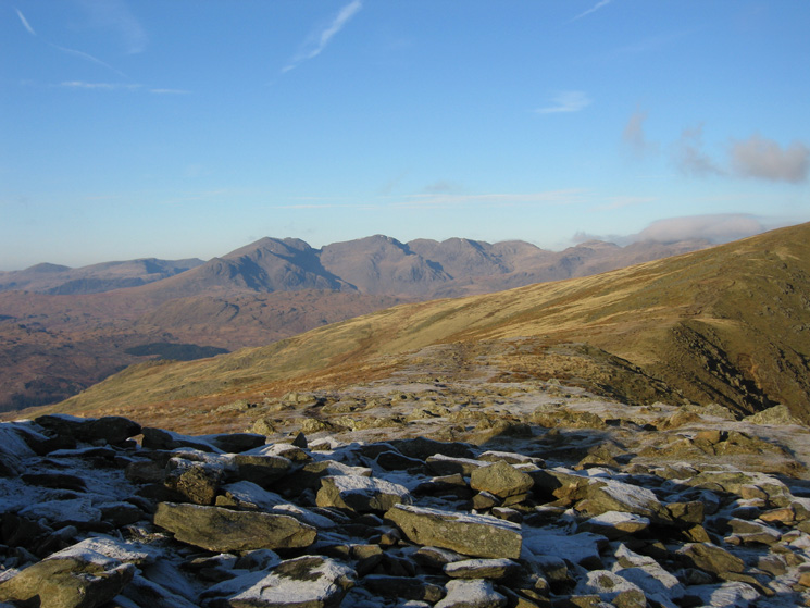 The Scafells from Brown Pike's summit