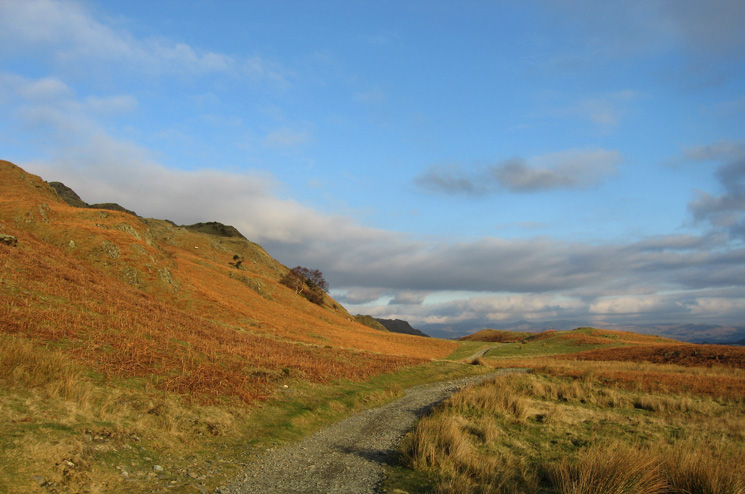 Walna Scar Road around the flanks of Coniston Old Man