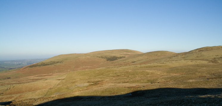 Fellbarrow is the high point with Smithy Fell and Sourfoot Fell to its right