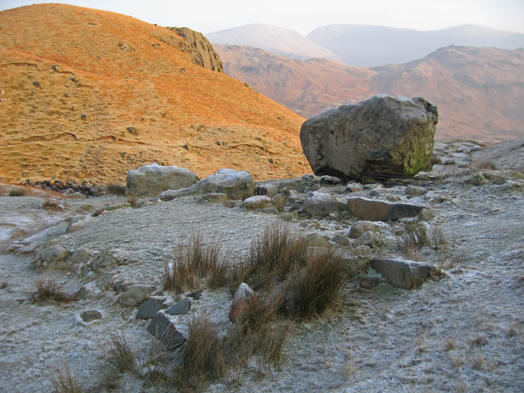 Site of the old refreshment hut at Easedale Tarn