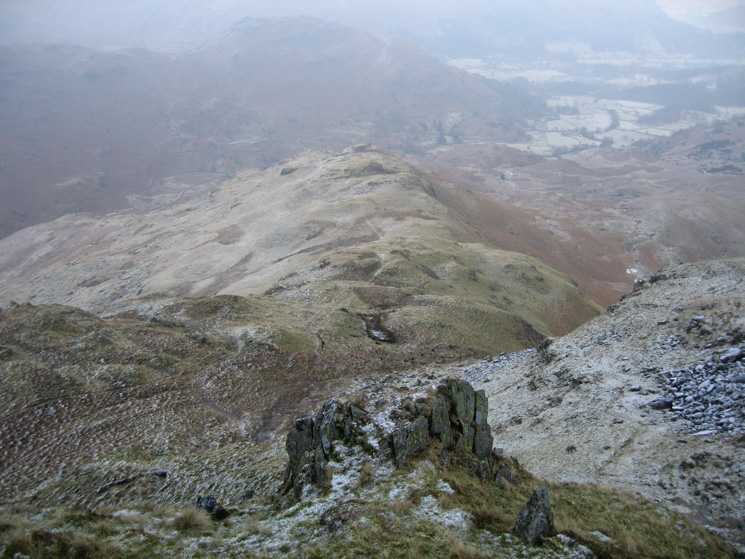 Tarn Crag's east ridge from its summit