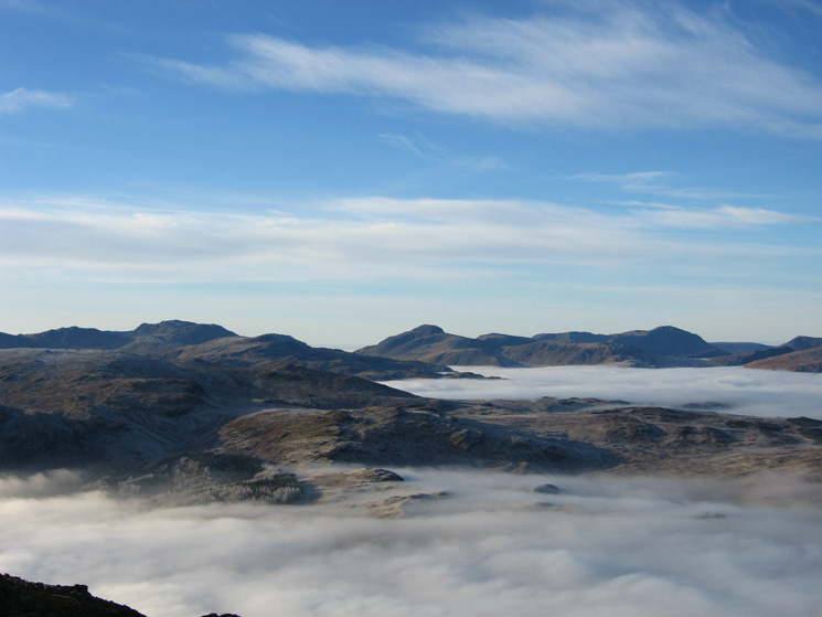 The far skyline - Esk Pike, Scafell Pike, Great Gable and Pillar