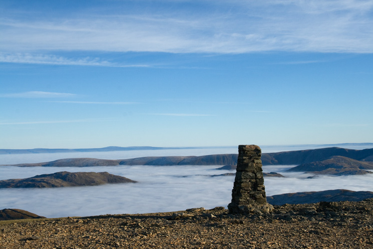 Helvellyn's summit trig point