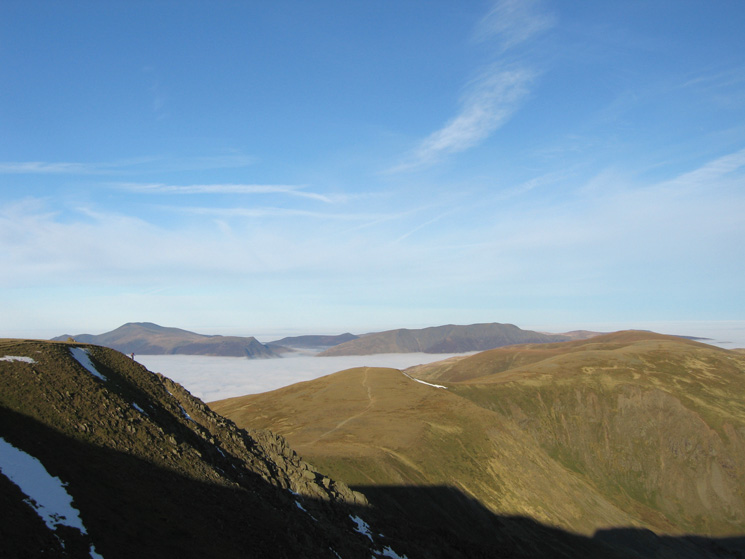 The top of Swirral Edge, White Side and the Dodd's ridge