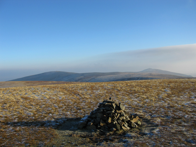 High Pike and Carrock Fell from Great Sca Fell's summit