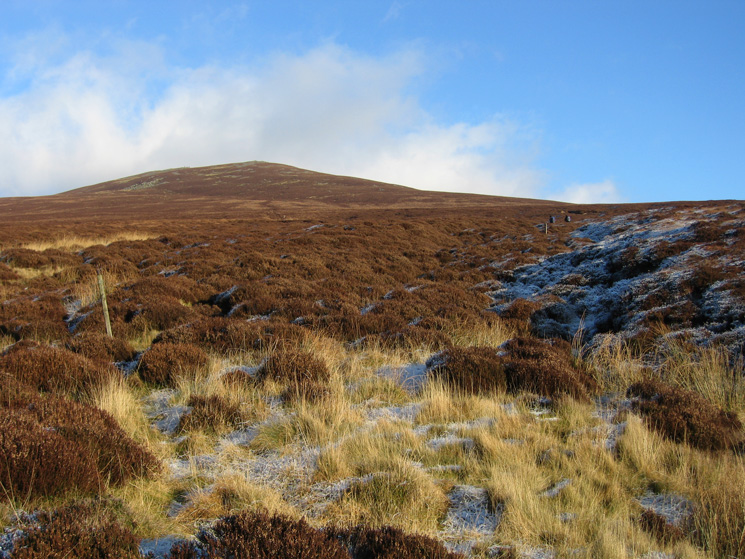 Looking back up to Great Calva
