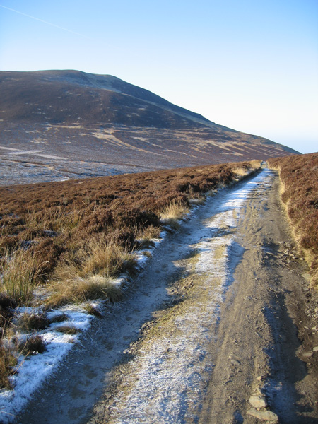 Part of the Skiddaw House track and Birkett Edge onto Bakestall