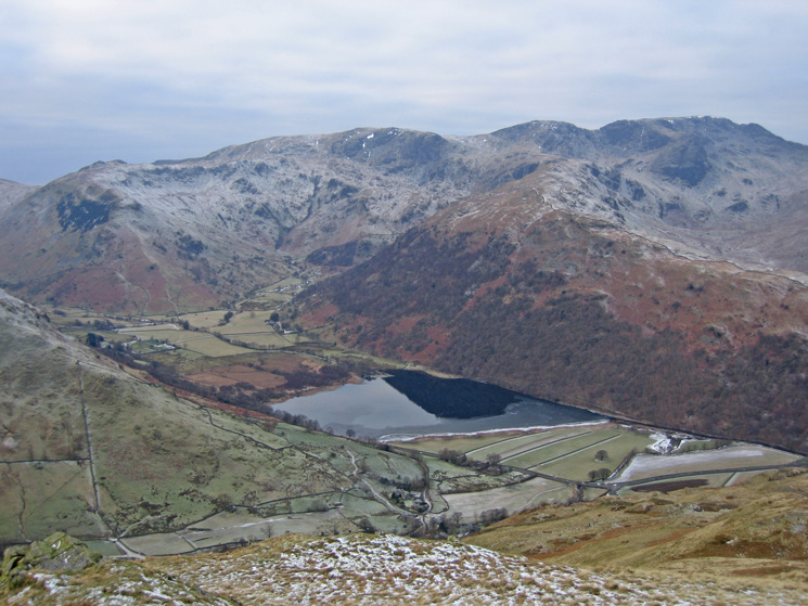 Brothers Water and Hartsop Above How with Little Hart Crag, Dove Crag, Hart Crag and Fairfield on the skyline