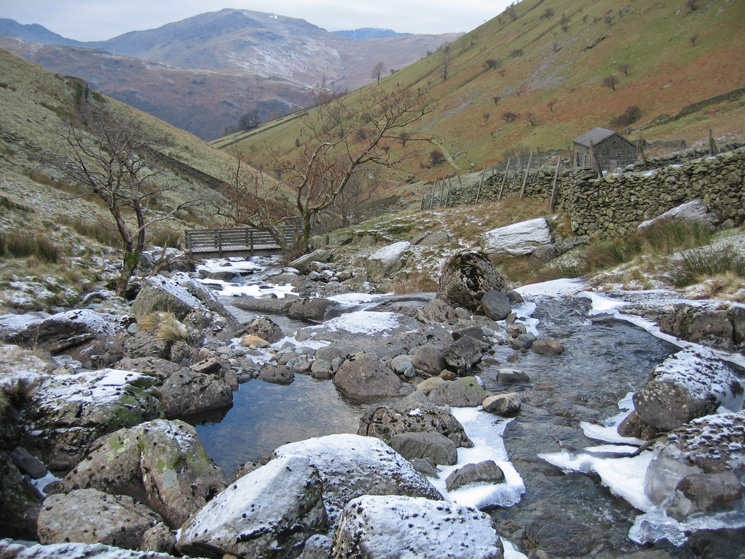 Rather than follow the main track back to Hartsop we look the minor path to the filter house