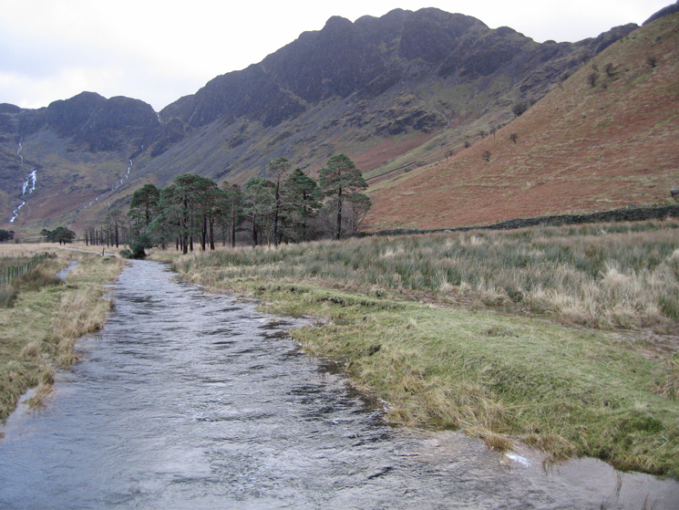 Haystacks from Peggy's Bridge over Warnscale Beck
