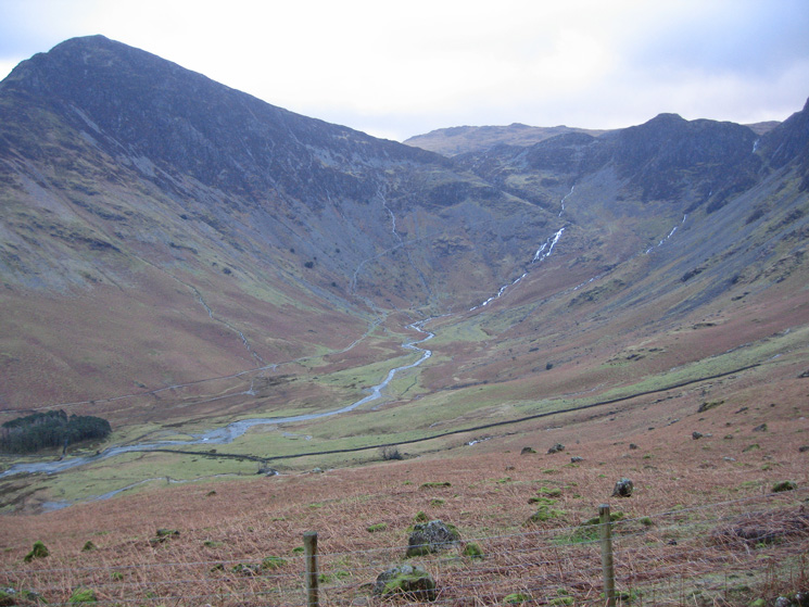Warnscale Bottom with Fleetwith Pike on the left