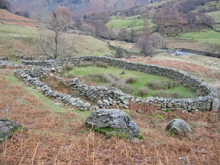 Sheepfold at the bottom of Coldcove Gill