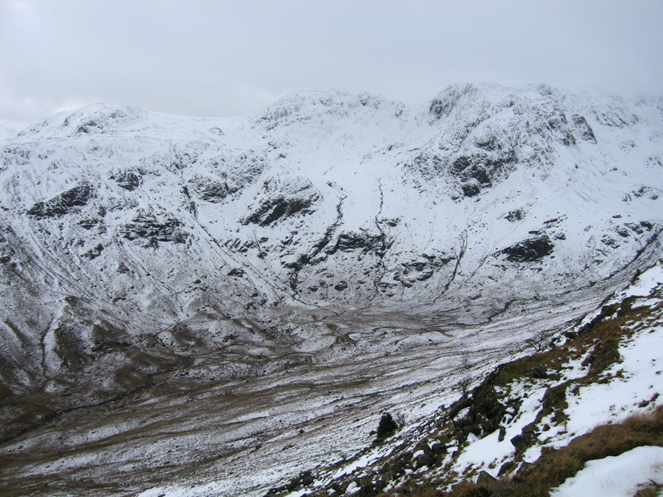 Dove Crag, Hart Crag and Greenhow End (Fairfield) seen across Deepdale