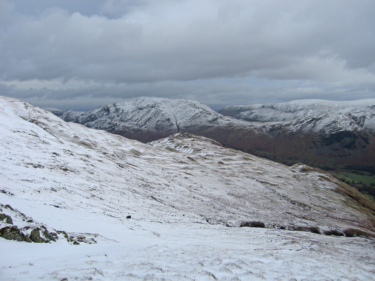Arnison Crag with Place Fell behind