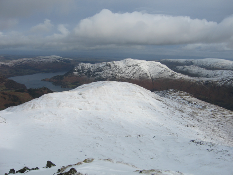 Birks with Ullswater and Place Fell beyond from Gavel Pike
