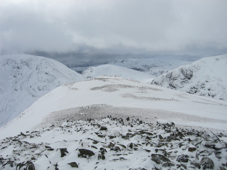 Looking west from Saint Sunday Crag's summit