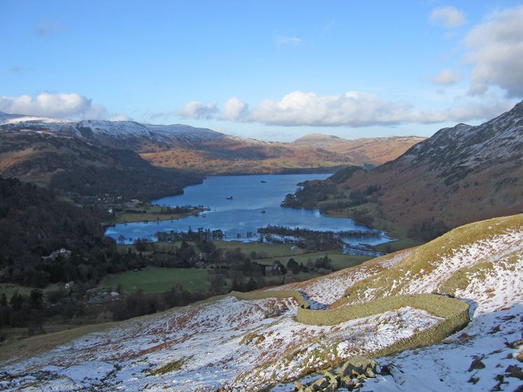 Ullswater from our descent to Patterdale from Arnison Crag