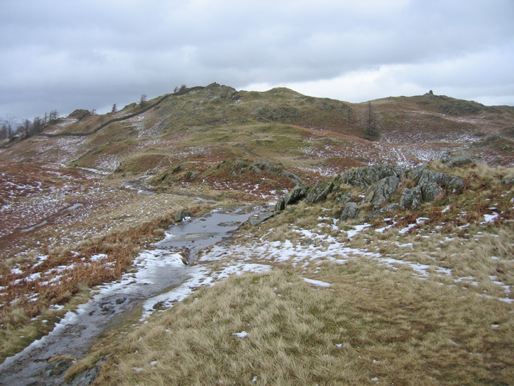 Black Crag with the large south-east cairn on the right
