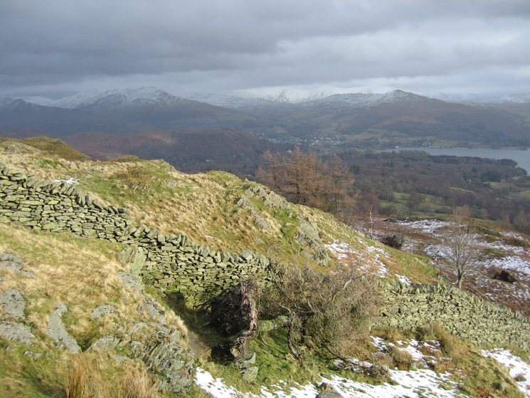 Towards Ambleside from Black Crag's summit